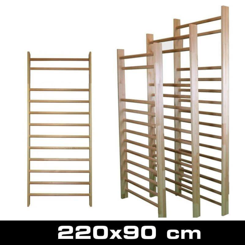 Drewniana drabinka gimnastyczna, rehabilitacyjna 220×90 cm z okuciem 12 szczebli
