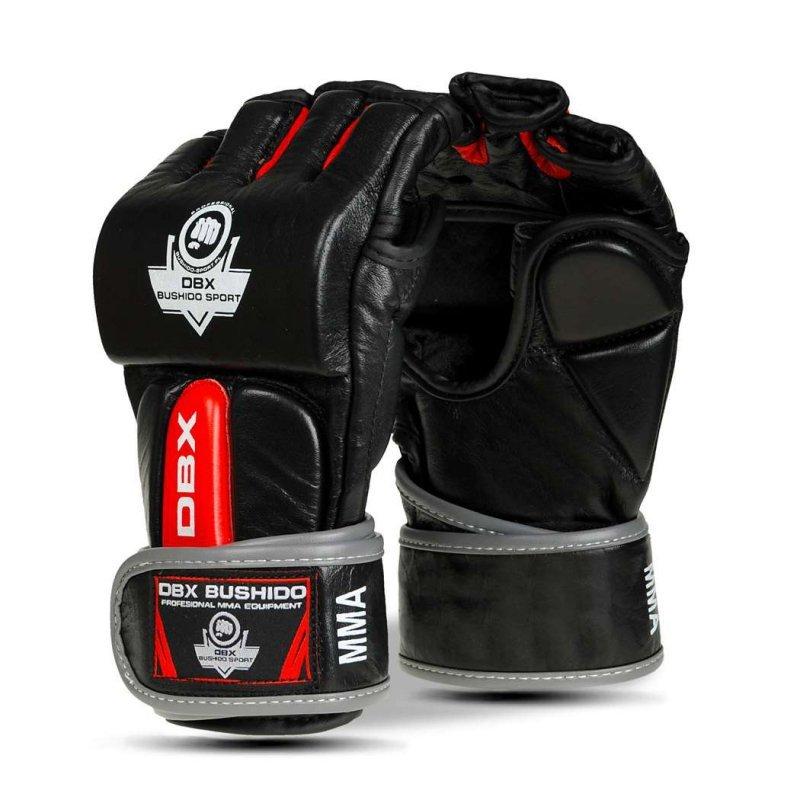 Rękawice Bushido do MMA ze Skóry Naturalnej  - e1v4-L