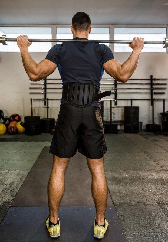 Pas kulturystyczny do cwiczeń na siłowni - do podnoszenia ciężarów DBX BUSHIDO - L
