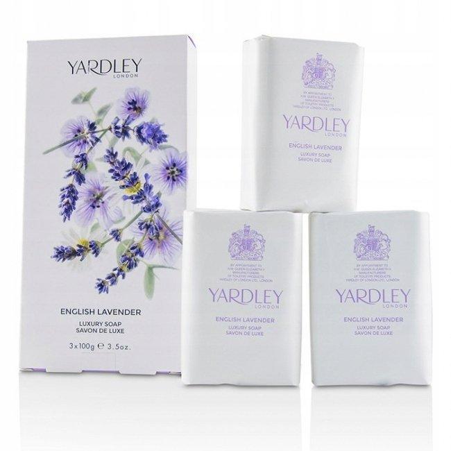 Yardley English Lavender perfumowane mydła 3 x 100g