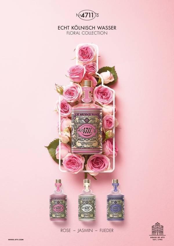 Maurer & Wirtz 4711 Floral Collection Rose woda kolońska 100 ml