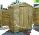 DM19 drewniany domek narzędziowy (75x145) NR-01