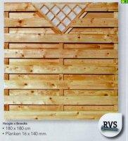 Drewniany płot deskowy 180 x 180 -D04