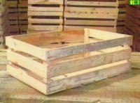 Drewniana skrzynka na owoce