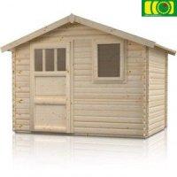 Drewniany domek ogrodowy HIACYNT 300/300