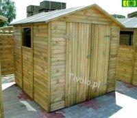 Drewniany domek narzędziowy 220 x 213 NR-03