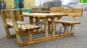 stół drewniany do ogrodu BERING