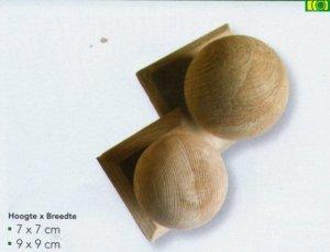 Drewniana Kula ozdobna 7x7