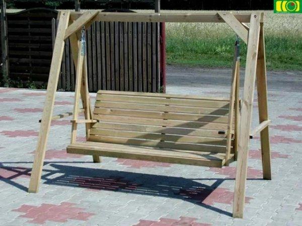 H01 drewniana huśtwka ogrodowa JADZIA