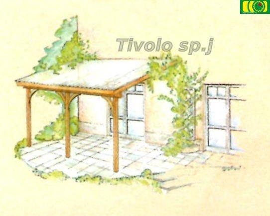W04 drewniane zadaszenie na taras (400x300x290)