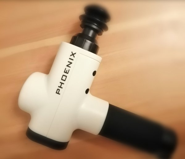 Pistolet Sportowca PHOENIX - masażer wibracyjny (wersja limitowana w kolorze biało-czarnym)