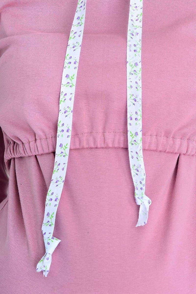 """MijaCulture - bluza 3 w 1 ciążowa i do karmienia z kapturem """"Melanie"""" 7136 różowy"""