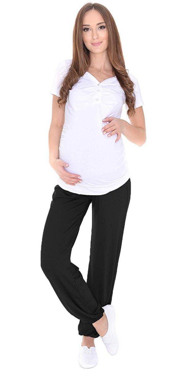 MijaCulture – alladynki ciążowe wiskoza 4069/M58 czarny