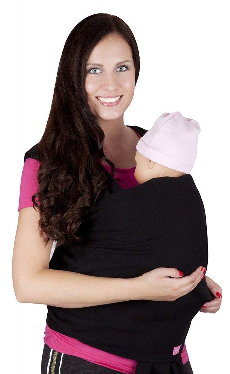 MijaCulture - chusta do noszenia dzieci 4011/M28 czarny