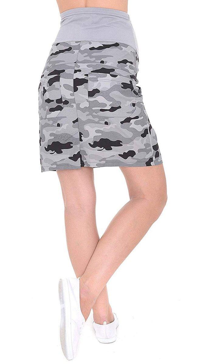 MijaCulture - spódnica ciążowa moro 9060/M59 moro