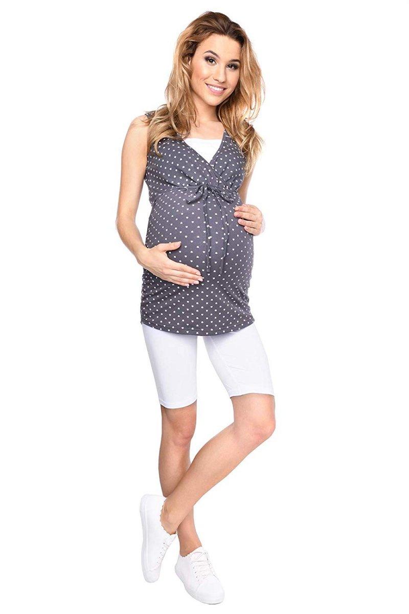 Wygodne legginsy ciążowe Mama biały