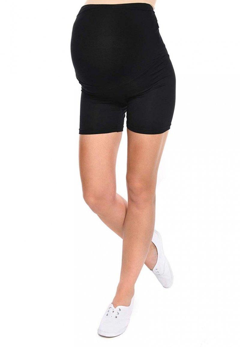 Wygodne krótkie legginsy ciążowe Mama Mia czarny