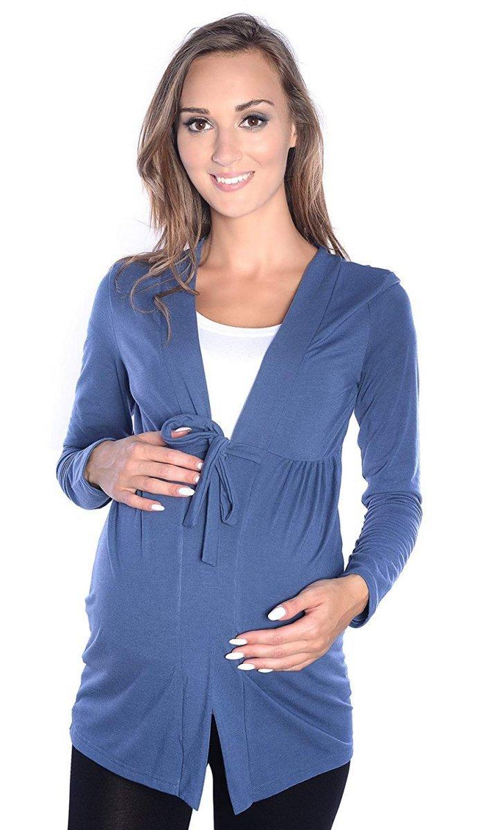 MijaCulture - bolerko ciążowe 2 w 1 7105 niebieski