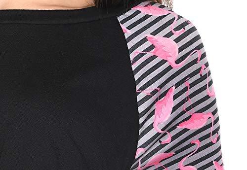 """MijaCulture - 3 w 1 bluzka ciążowa i do karmienia """"Suzi"""" 7141 czarny/różowy"""