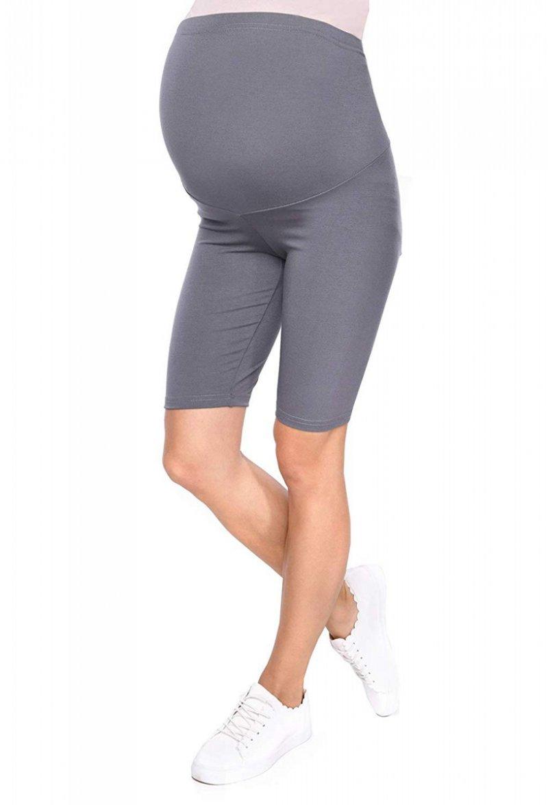 Wygodne legginsy ciążowe Mama szary