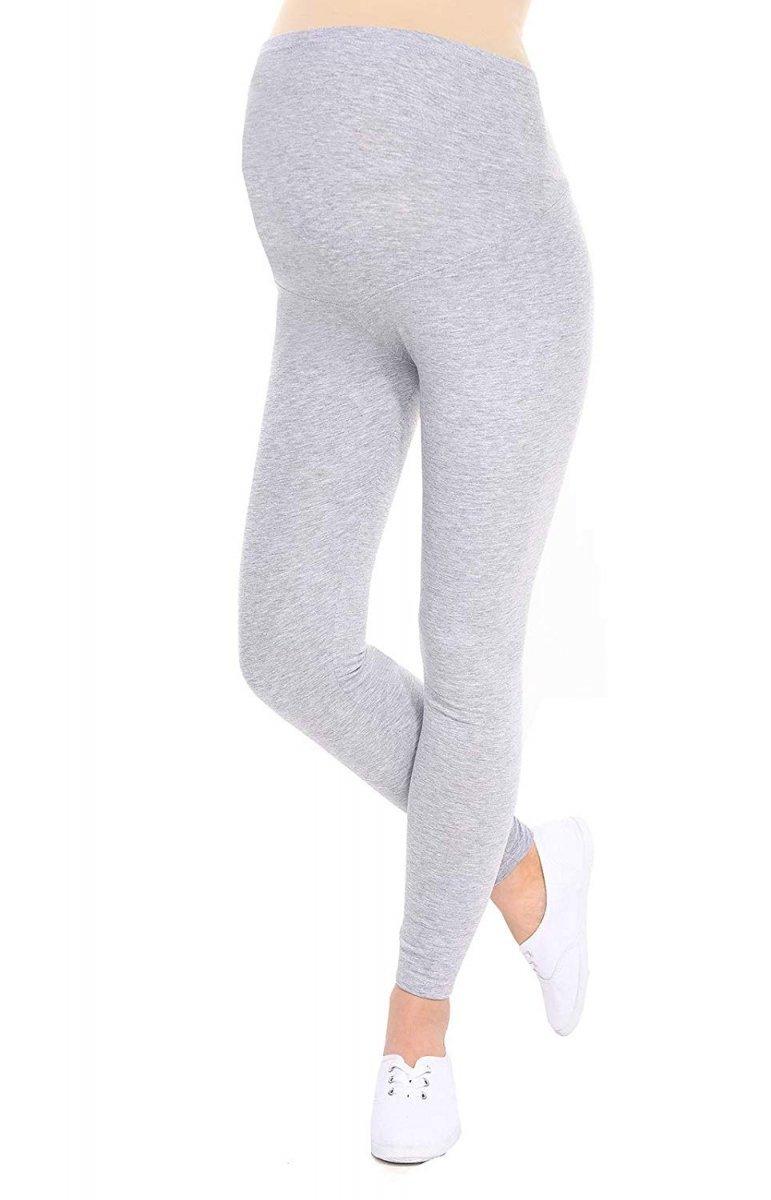 Komfortowe legginsy ciążowe 3085 melanż