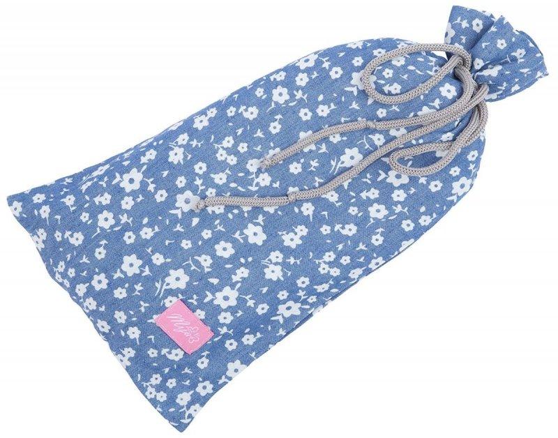 MijaCulture - chusta, peleryna do karmienia piersią + etui 4010/M34 niebieski 2