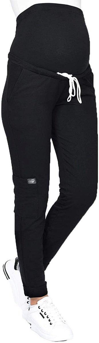 MijaCulture Wygodne spodnie dresowe ciążowe ZOE M002 czarny1