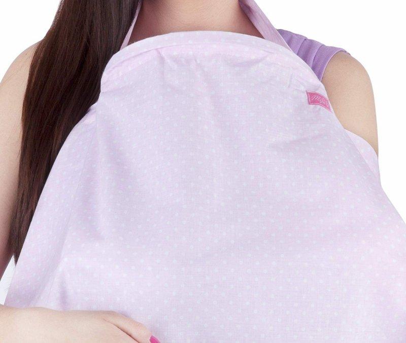 MijaCulture - chusta, peleryna do karmienia piersią + etui 4010/M34 różowy