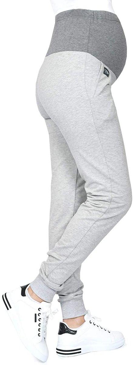 MijaCulture Wygodne spodnie dresowe ciążowe Coco M003 melanż3