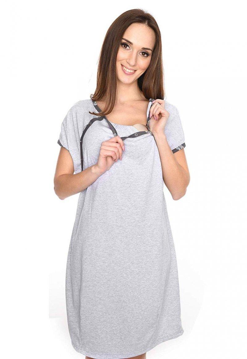 MijaCulture - koszula do porodu 4123 melanż 2