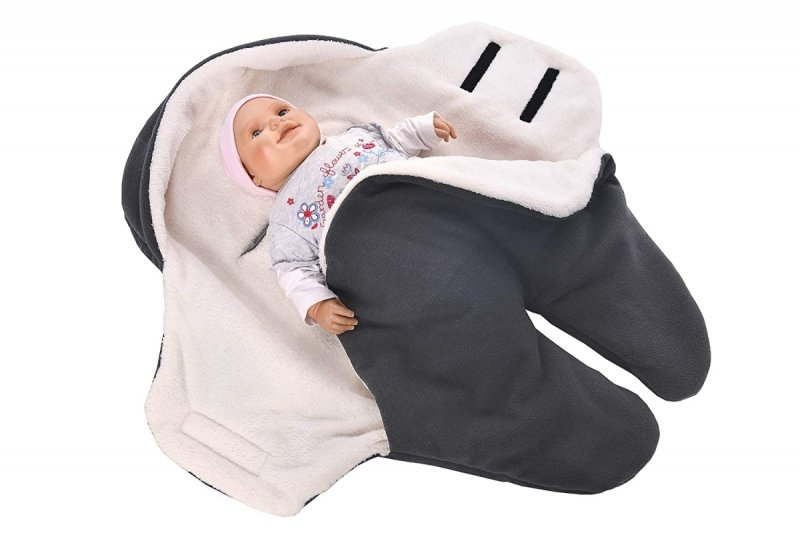 MijaCulture Polarowy otulacz do fotelika nosidła 4126 szary1