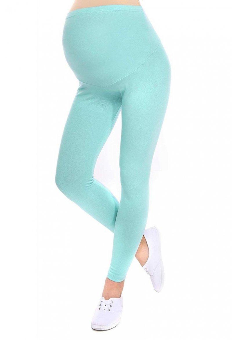 Komfortowe legginsy ciążowe 3085 mięta
