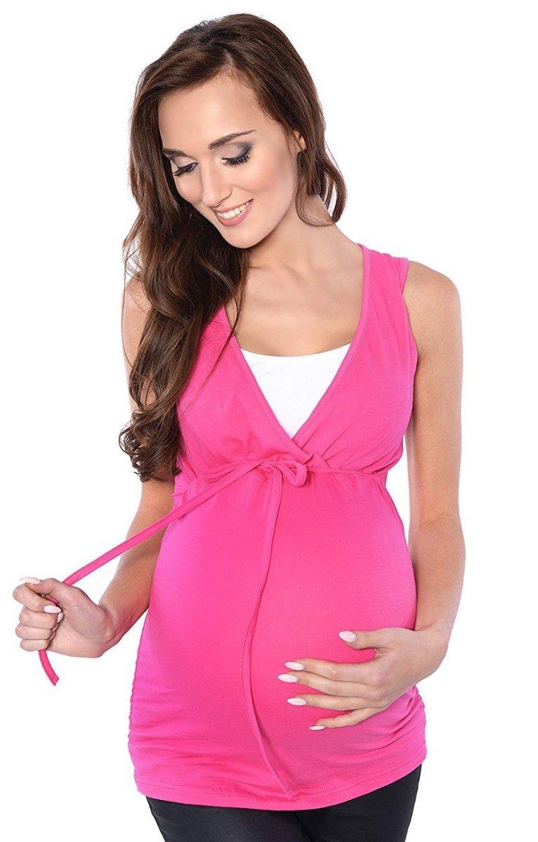 MijaCulture - bluzka 2 w 1 ciążowa i do karmienia M14/3092 róż