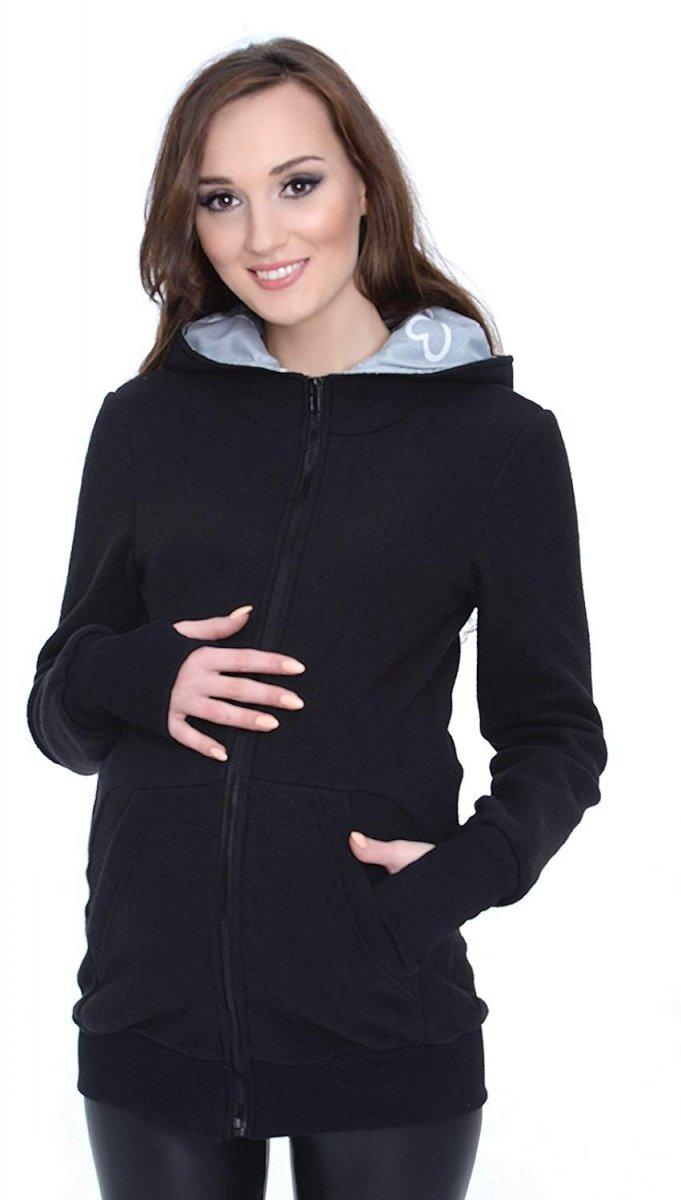 MijaCulture - 3 w1 polar  ciążowy i do noszenia dziecka 4018A/M22 czarny