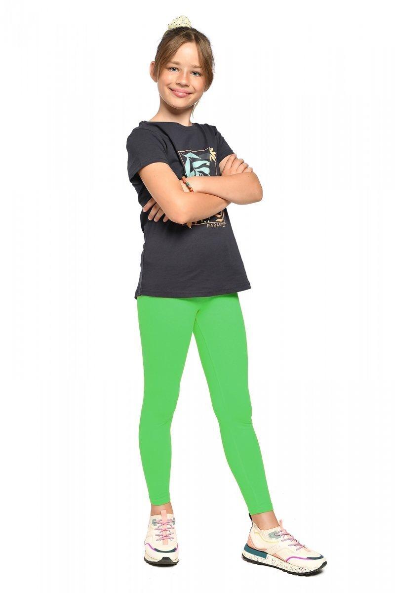 Legginsy dziewczęce getry dla dzieci ZOE zielony