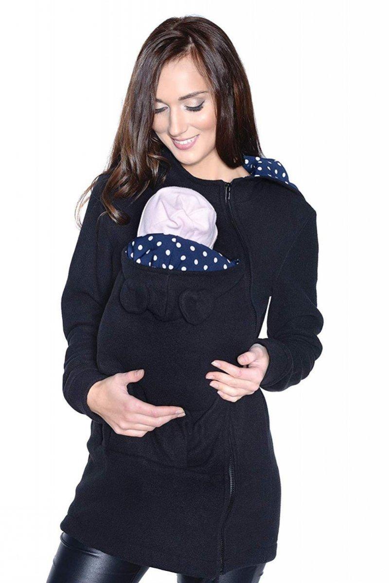 MijaCulture - polar do noszenia dziecka 3073A czarny