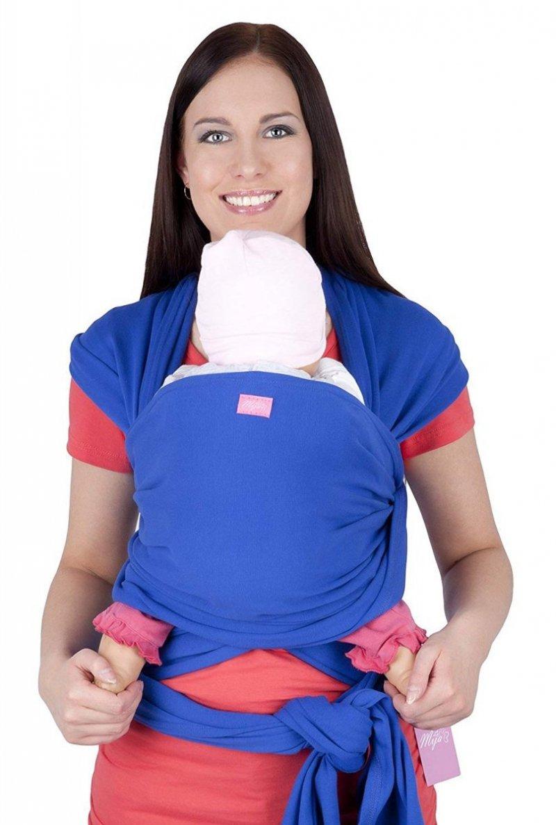 MijaCulture - chusta do noszenia dzieci 4011/M28 niebieski