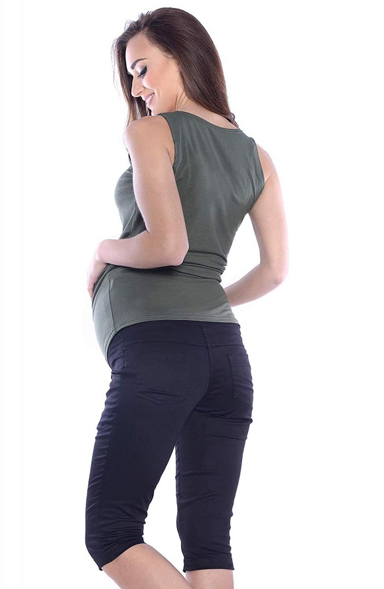 MijaCulture - spodnie rybaczki ciążowe 9045/ M34 czarny