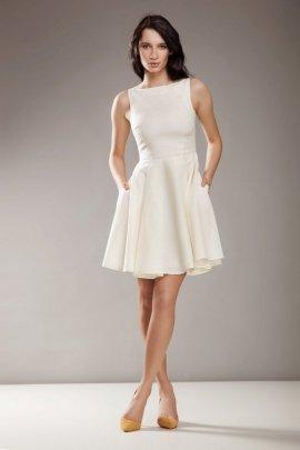 Stylowa sukienka AUDREY - krem - S17O