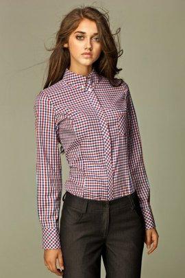 Koszula w modną kratę - czerwona - K37