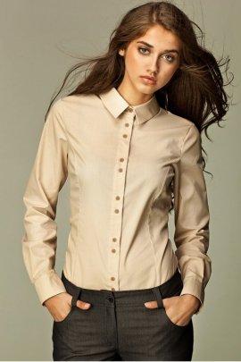 Koszula z podwójnymi guzikami - beż - K38