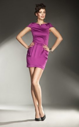 Sukienka Allesandria s11 Fuksja