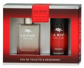 La Rive La Rive for Men Red Line Zestaw/edt90ml+deo150ml/