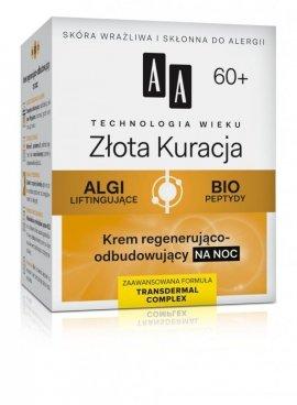 AA Technologia Wieku 60+ Złota Kuracja Krem regenerująco-odbudowujący na noc 50ml