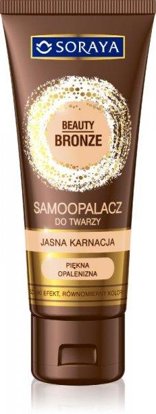 Soraya Beauty Bronze Samoopalacz w kremie do twarzy-jasna karnacja
