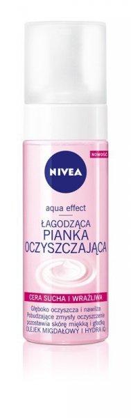 Nivea Aqua Effect Pianka oczyszczająca do cery suchej i wrażliwej 150ml