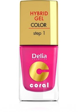 Delia Cosmetics Coral Hybrid Gel Emalia do paznokci nr 03 róż 11ml
