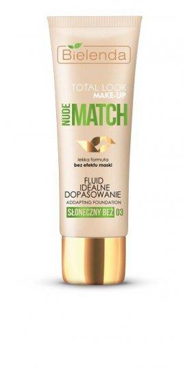 Bielenda Total Look Make-Up Nude Match Fluid idealne dopasowanie nr 03 słoneczny beż  30g