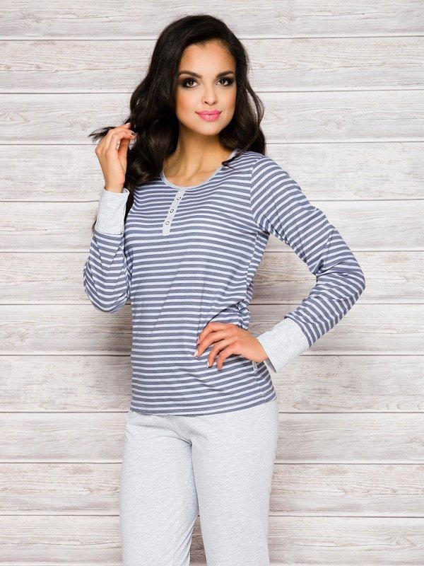 Piżama Lisa 2120 AW/17 K2 Granatowe paski