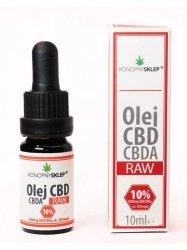 Olej konopny RAW 10% CBD+CBDA 10ML 1000mg